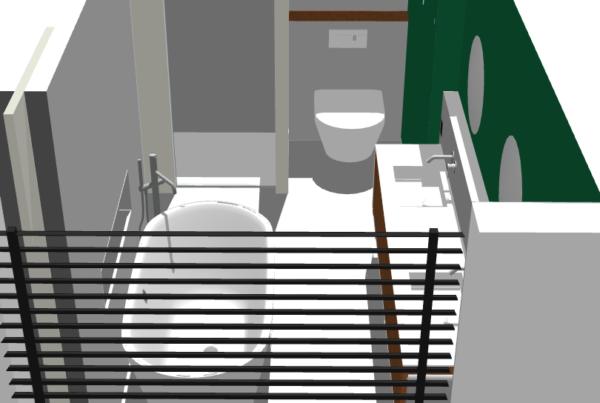 Indelen van de badkamer