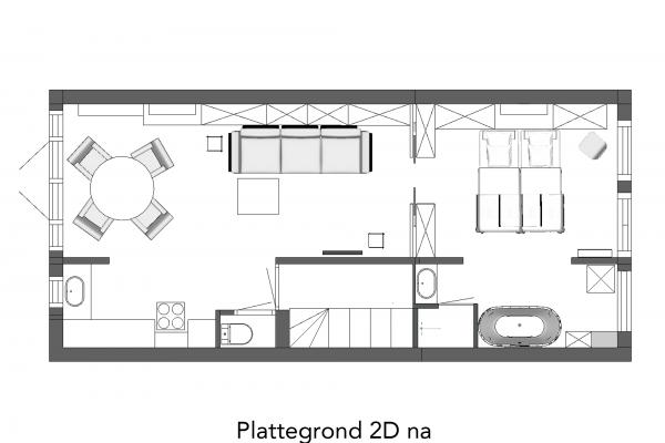 Plattegrond 2D na