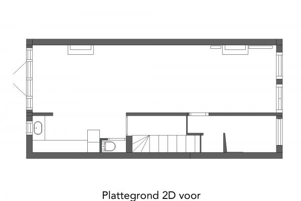 Plattegrond 2D voor